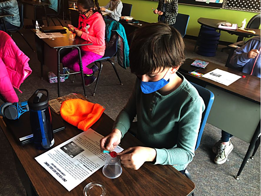 """Fifth-graders at Fraser Valley saved """"Frank"""" on Tuesday during a growth mindset activity that involved rescuing a gummy worm before eating him."""