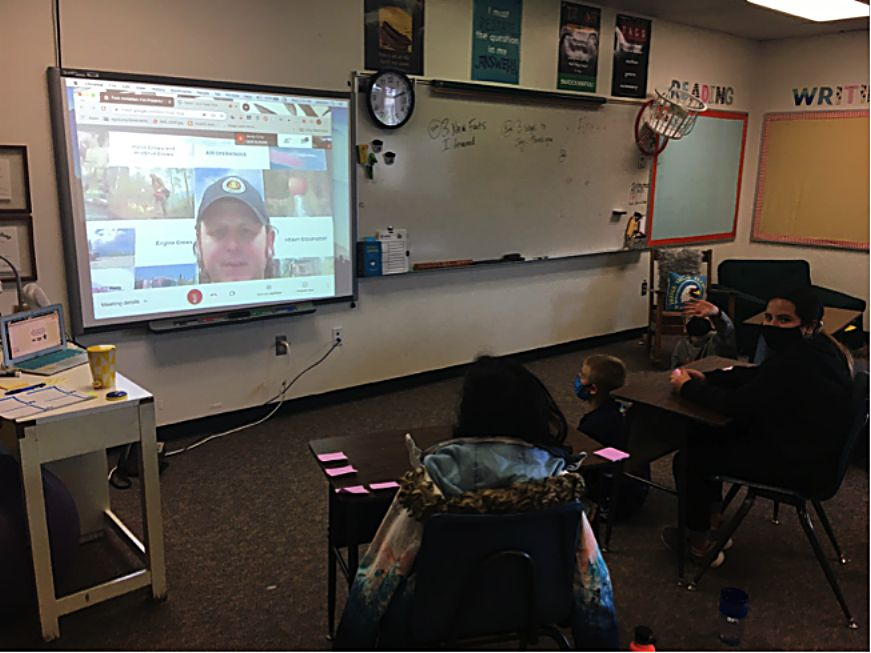 The Incident Command Team for the Williams Fork Fire takes time for an hour-long presentation with Grand County students last week.