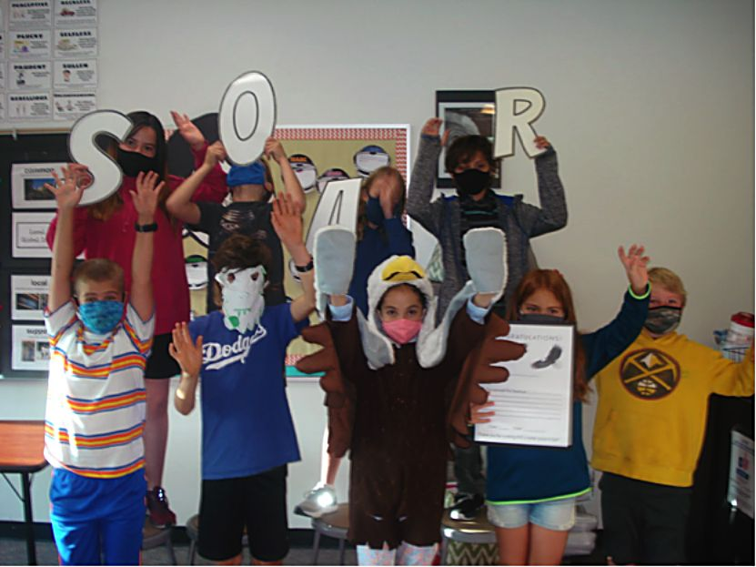 Students at Fraser Valley Elementary are making videos that showcase each part of SOAR (safety, ownership, attitude, and respect).