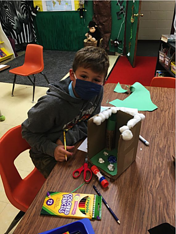 Granby Elementary students have been making models of the Earth and and studying the scientific method in their science classes.