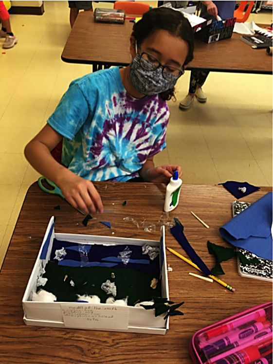 In science class, Granby Elementary students are learning about renewable energy, making models of the Earth and and studying the scientific method.