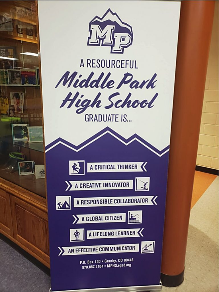The Graduate Profile at Middle Park High School will be a keystone of Homegrown Talent Initiative programming.