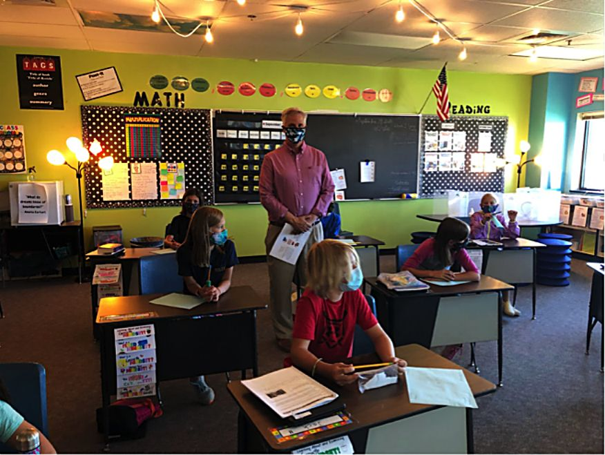For the Word Generation unit, Dr. Chamberlin came into classrooms to deliver a lesson entirely in Spanish.