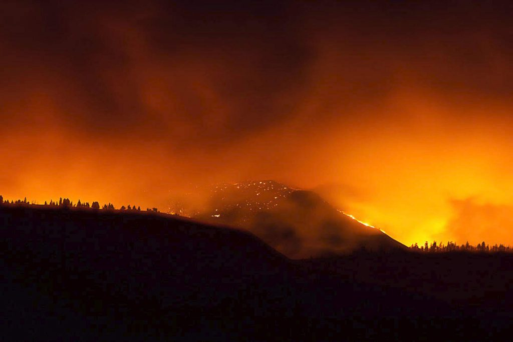 The East Troublesome Fire exploded on Oct. 21 and continued throughout the night. Thousands of residents were forced to evacuate their homes when the fire reached US Highway 40 and Highway 34 and Colorado 125.